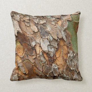 USA Tennessee Close Up Of Bark On A Tree Throw Pillows