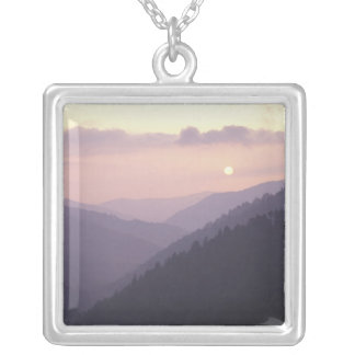 USA, Tennessee. Great Smokey Mountains 2 Square Pendant Necklace