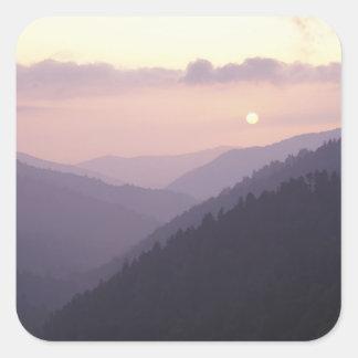 USA, Tennessee. Great Smokey Mountains 2 Square Sticker