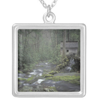 USA, Tennessee, Great Smoky Mountains National 3 Square Pendant Necklace