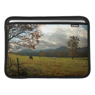 USA, Tennessee. Horses In Cades Cove Valley MacBook Sleeves
