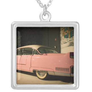 USA, Tennessee, Memphis, Elvis Presley 3 Silver Plated Necklace