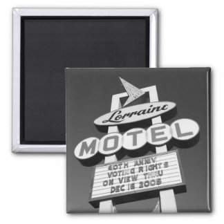 USA, Tennessee, Memphis,National Civil Rights 2 Inch Square Magnet