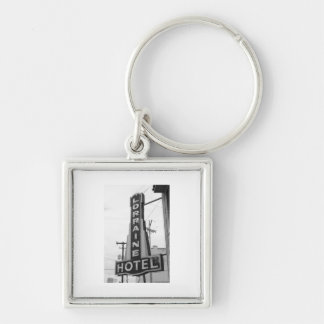 USA, Tennessee, Memphis: National Civil Rights Silver-Colored Square Keychain