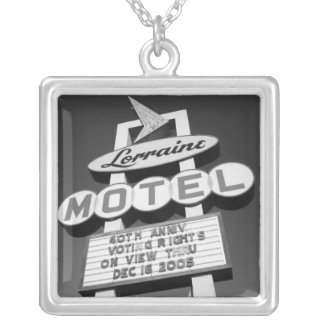 USA, Tennessee, Memphis,National Civil Rights Square Pendant Necklace