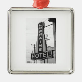 USA, Tennessee, Memphis: National Civil Rights Square Metal Christmas Ornament