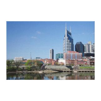 USA, Tennessee, Nashville. Cumberland River Canvas Print