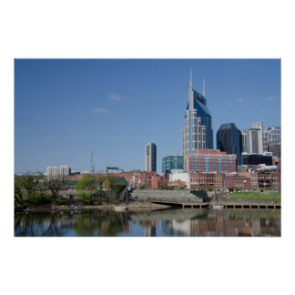 USA, Tennessee, Nashville. Cumberland River Poster