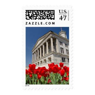 USA, Tennessee, Nashville. Historic Tennessee Stamp