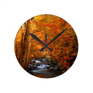 USA, Tennessee. Rushing Mountain Creek 2 Round Clock