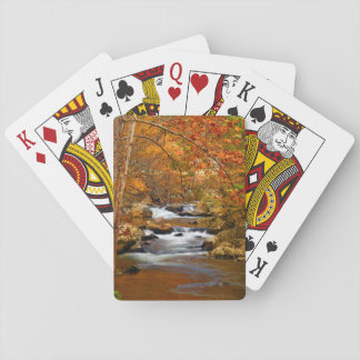 USA, Tennessee. Rushing Mountain Creek Playing Cards