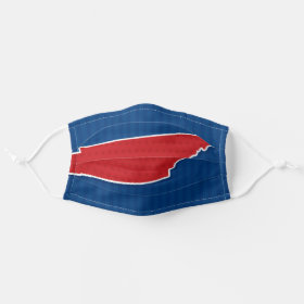 USA Tennessee State Stars and Stripes Map Cloth Face Mask