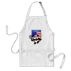 Apron with USA Tennis Panda design
