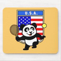 Mousepad with USA Tennis Panda design