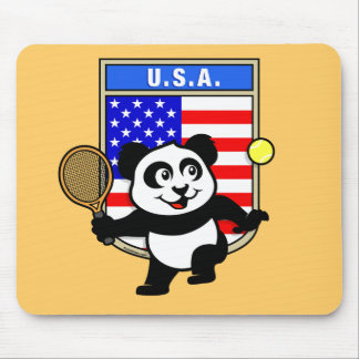 USA Tennis Panda Mouse Pad