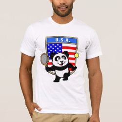 Men's Basic American Apparel T-Shirt with USA Tennis Panda design