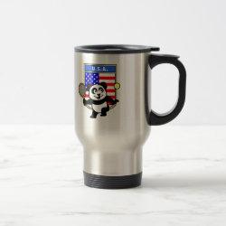 Travel / Commuter Mug with USA Tennis Panda design