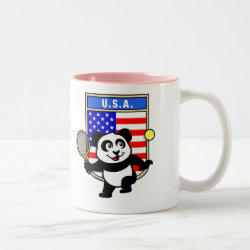 Two-Tone Mug with USA Tennis Panda design