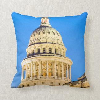 USA, Texas, Austin. Capitol Building (1888) 2 Throw Pillow