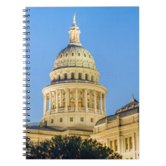 USA, Texas, Austin. Capitol Building (1888) 3 Spiral Note Book