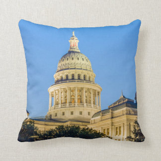 USA, Texas, Austin. Capitol Building (1888) 3 Throw Pillows