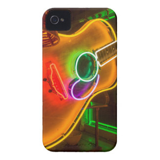 USA, Texas, Austin. Neon Guitar At Blackmail Case-Mate iPhone 4 Case