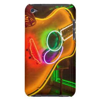 USA, Texas, Austin. Neon Guitar At Blackmail Case-Mate iPod Touch Case