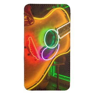 USA, Texas, Austin. Neon Guitar At Blackmail Galaxy S4 Pouch