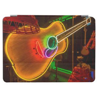 USA, Texas, Austin. Neon Guitar At Blackmail iPad Air Cover