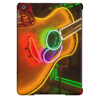 USA, Texas, Austin. Neon Guitar At Blackmail iPad Air Covers