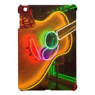 USA, Texas, Austin. Neon Guitar At Blackmail iPad Mini Cases