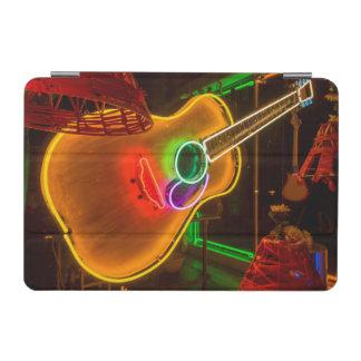 USA, Texas, Austin. Neon Guitar At Blackmail iPad Mini Cover