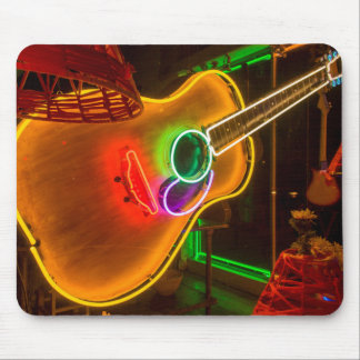 USA, Texas, Austin. Neon Guitar At Blackmail Mouse Pad