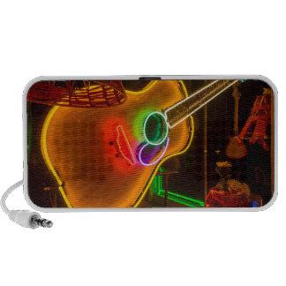 USA, Texas, Austin. Neon Guitar At Blackmail Mp3 Speaker