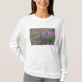 USA, Texas Hill Country. Bluebonnets among phlox T-Shirt