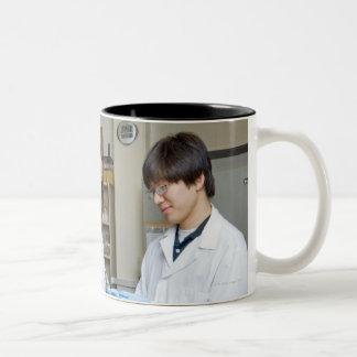 USA, Texas, Houston Two-Tone Coffee Mug