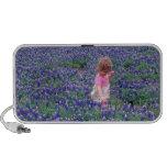 USA, Texas, Little girl in field of Texas Travel Speaker