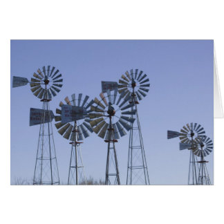 USA, TEXAS, Lubbock: American Wind Power Center Greeting Card