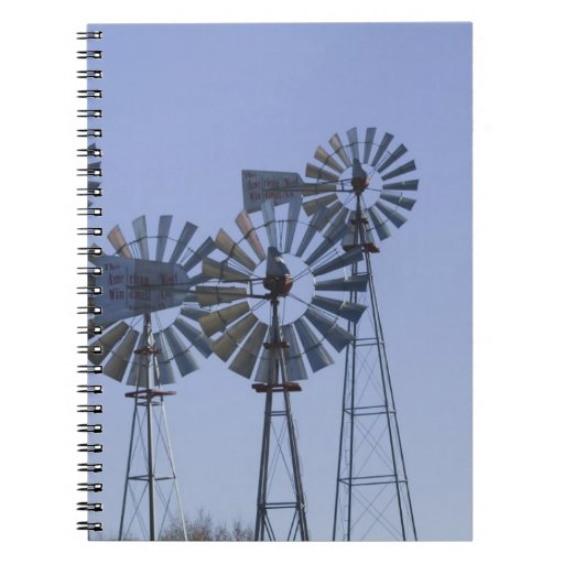 USA, TEXAS, Lubbock: American Wind Power Center Notebook