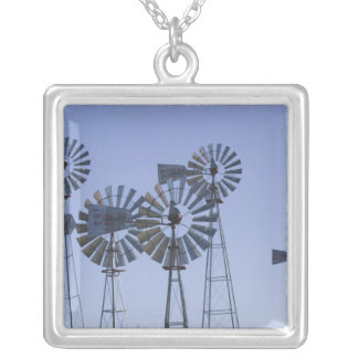 USA, TEXAS, Lubbock: American Wind Power Center Silver Plated Necklace
