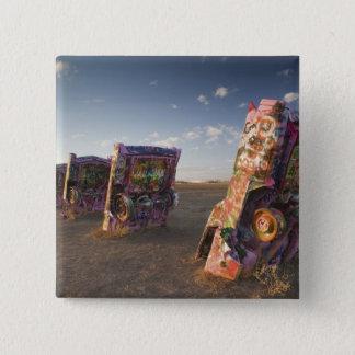 USA, TEXAS, Panhandle Area, Amarillo: Cadillac 2 Pinback Button