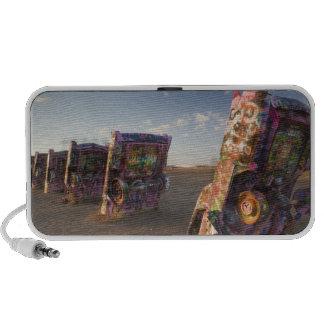 USA, TEXAS, Panhandle Area, Amarillo: Cadillac 2 Notebook Speakers