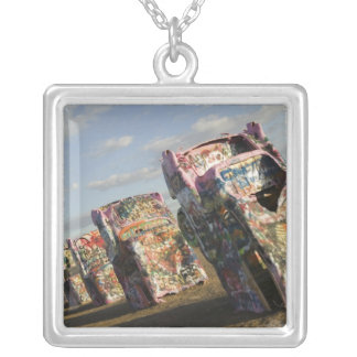 USA, TEXAS, Panhandle Area, Amarillo: Cadillac Silver Plated Necklace