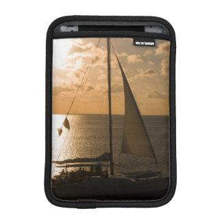 USA, Texas, South Padre Island. Sailboat iPad Mini Sleeve