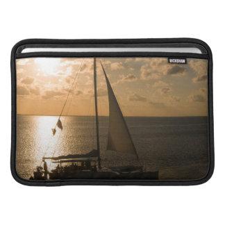 USA, Texas, South Padre Island. Sailboat MacBook Air Sleeves