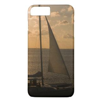 USA, Texas, South Padre Island. Sailboat iPhone 7 Plus Case