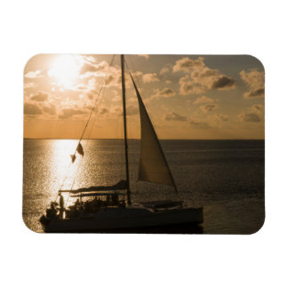 USA, Texas, South Padre Island. Sailboat Magnet
