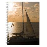 USA, Texas, South Padre Island. Sailboat Spiral Note Book