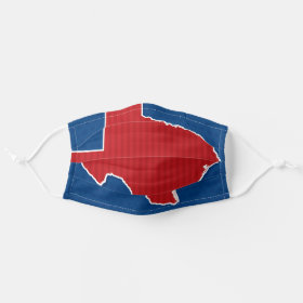 USA Texas State Patriotic Stars and Stripes Map Cloth Face Mask
