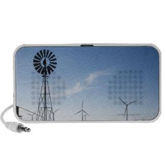 USA, Texas, Vega, Old ranch windmill and water Mini Speaker